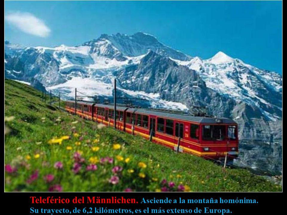 Teleférico del Männlichen. Asciende a la montaña homónima.