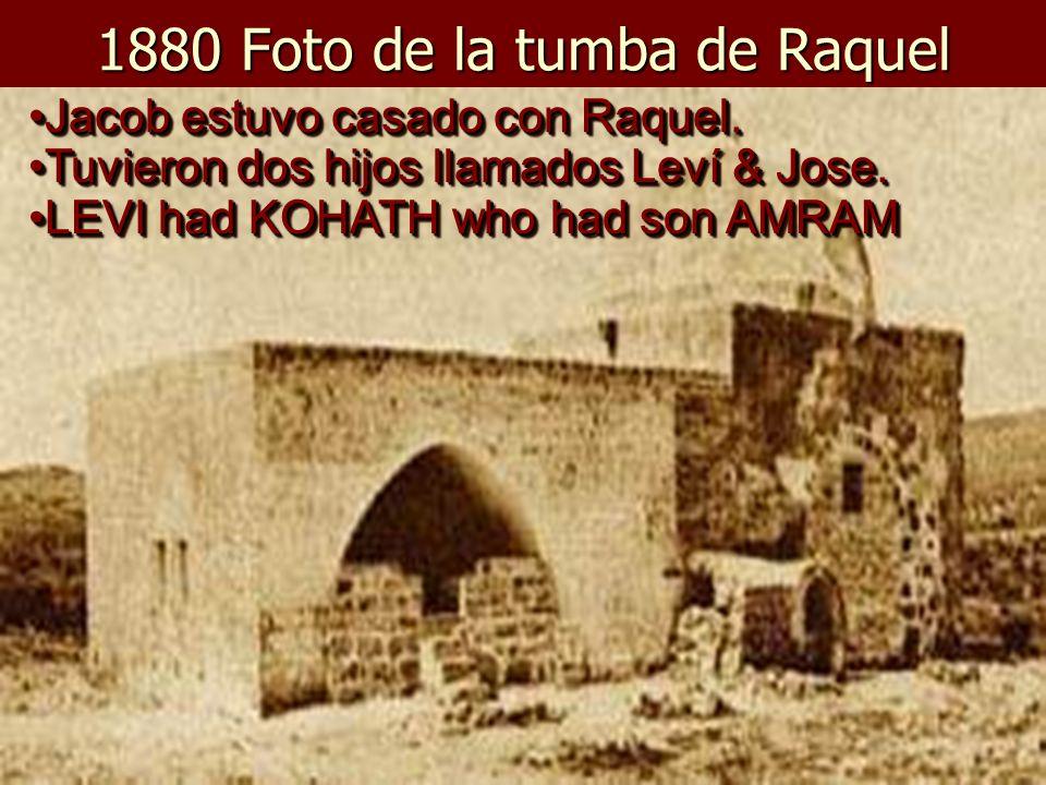 1880 Foto de la tumba de Raquel
