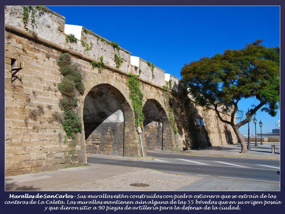 Murallas de San Carlos – Sus murallas están construidas con piedra ostionera que se extraía de las canteras de La Caleta.