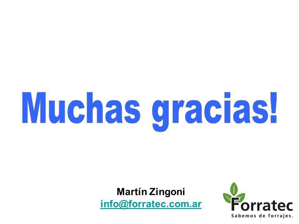 Muchas gracias! Martín Zingoni info@forratec.com.ar