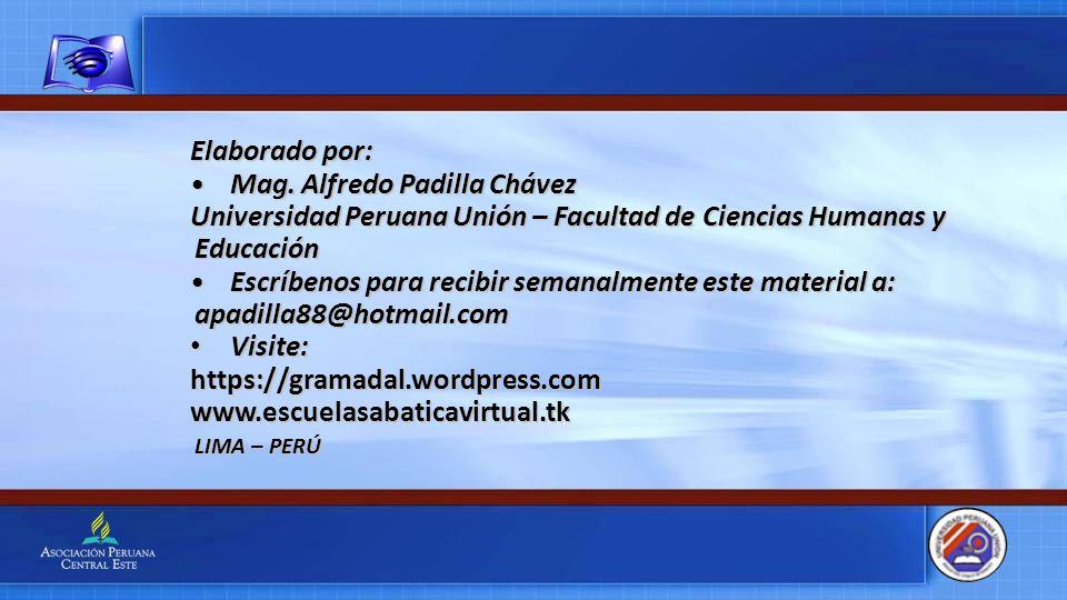 Mag. Alfredo Padilla Chávez