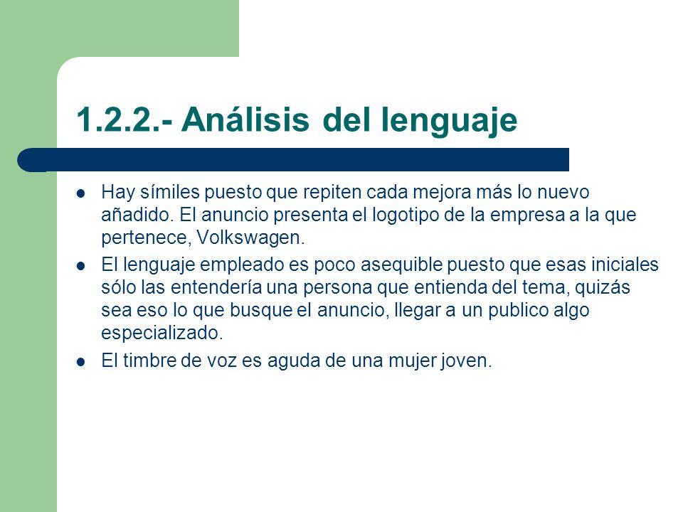 1.2.2.- Análisis del lenguaje