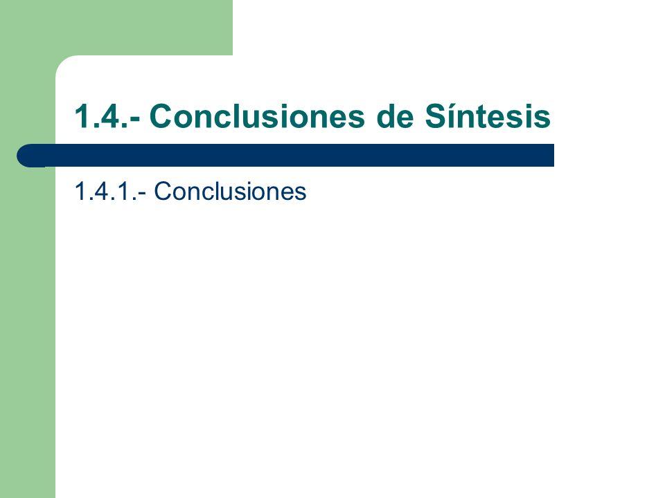 1.4.- Conclusiones de Síntesis
