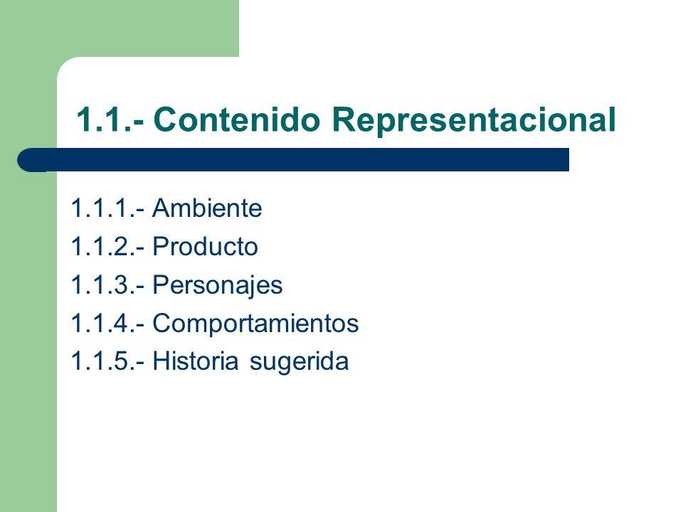 1.1.- Contenido Representacional