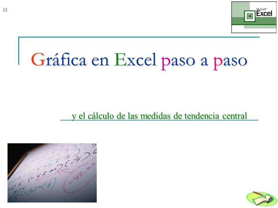 Gráfica en Excel paso a paso