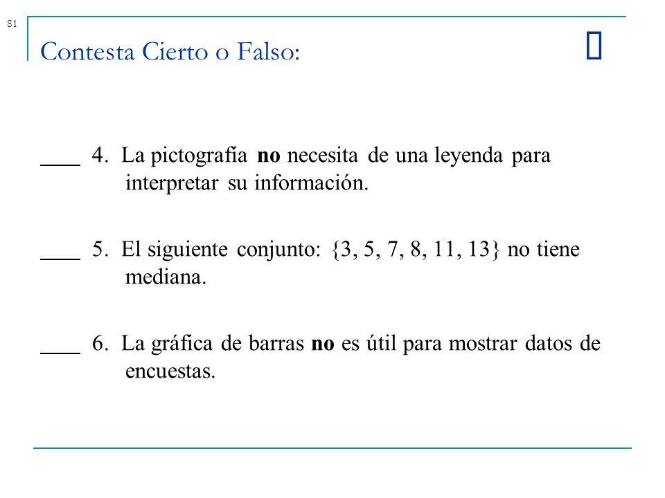 Contesta Cierto o Falso: þ