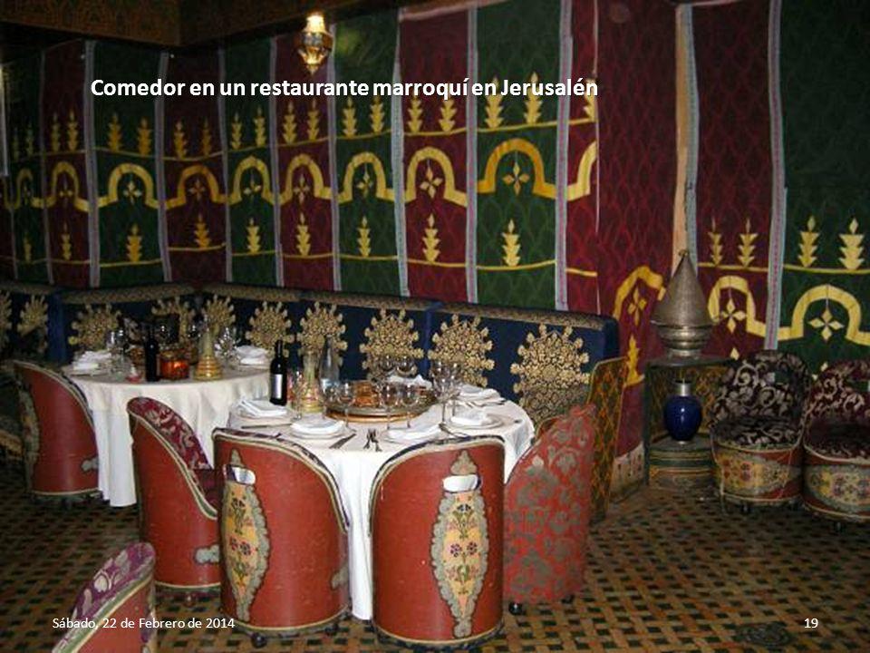 Comedor en un restaurante marroquí en Jerusalén