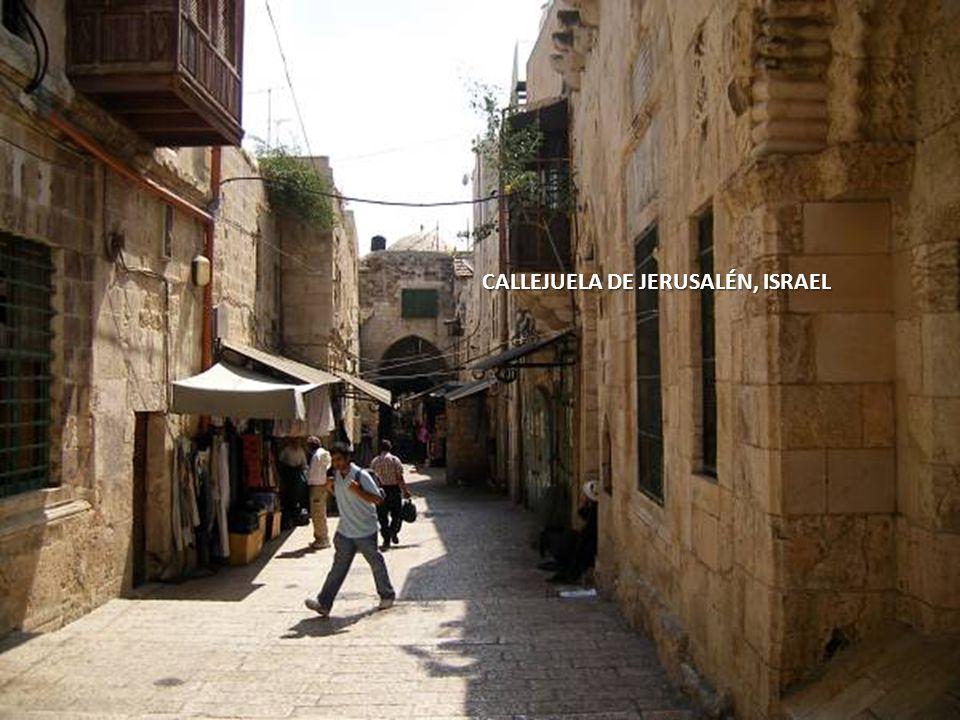 CALLEJUELA DE JERUSALÉN, ISRAEL