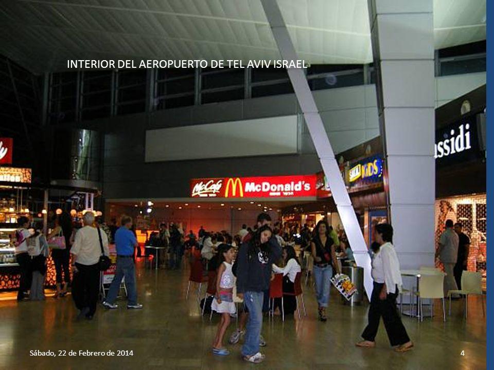 INTERIOR DEL AEROPUERTO DE TEL AVIV ISRAEL