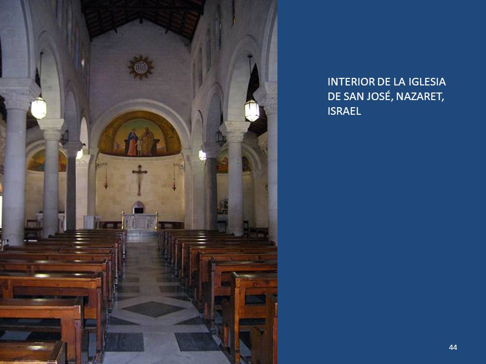 INTERIOR DE LA IGLESIA DE SAN JOSÉ, NAZARET, ISRAEL