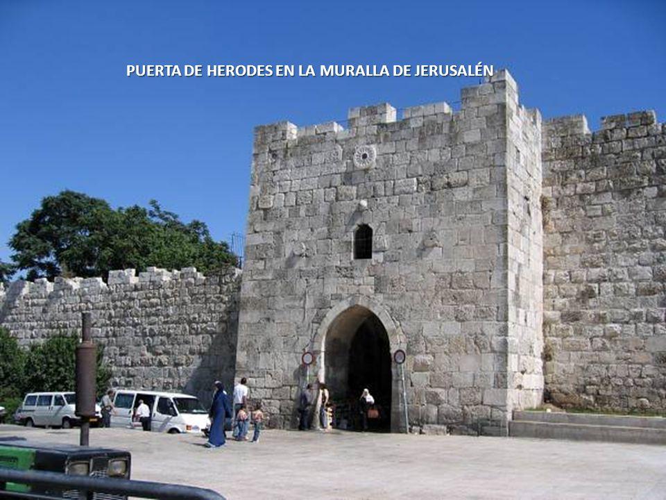 PUERTA DE HERODES EN LA MURALLA DE JERUSALÉN