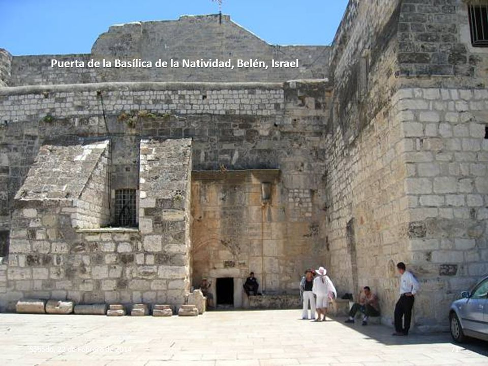 Puerta de la Basílica de la Natividad, Belén, Israel