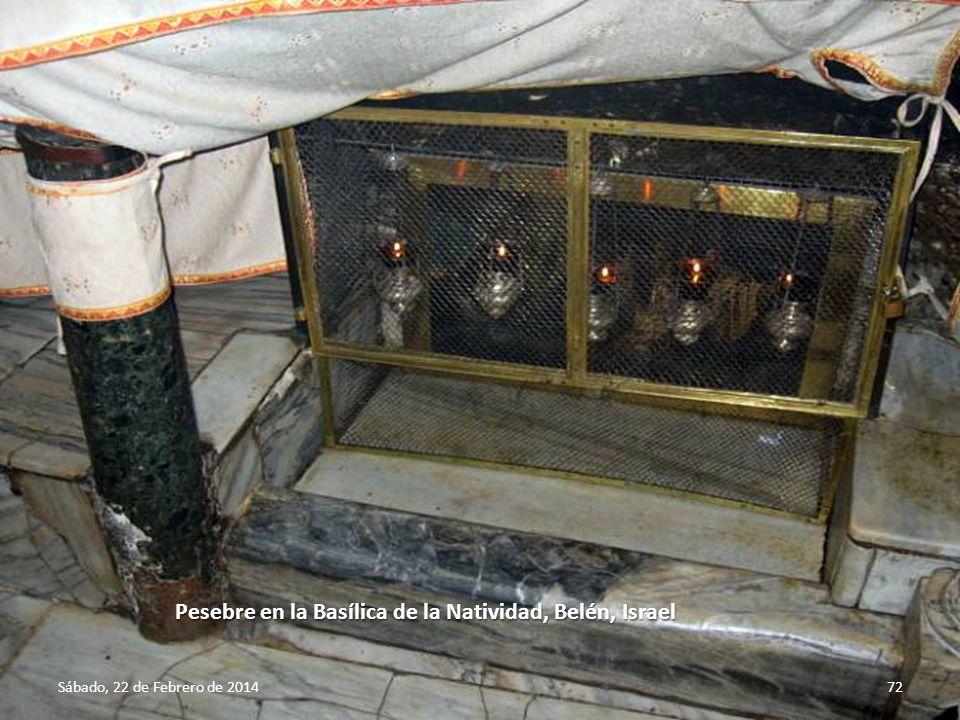 Pesebre en la Basílica de la Natividad, Belén, Israel