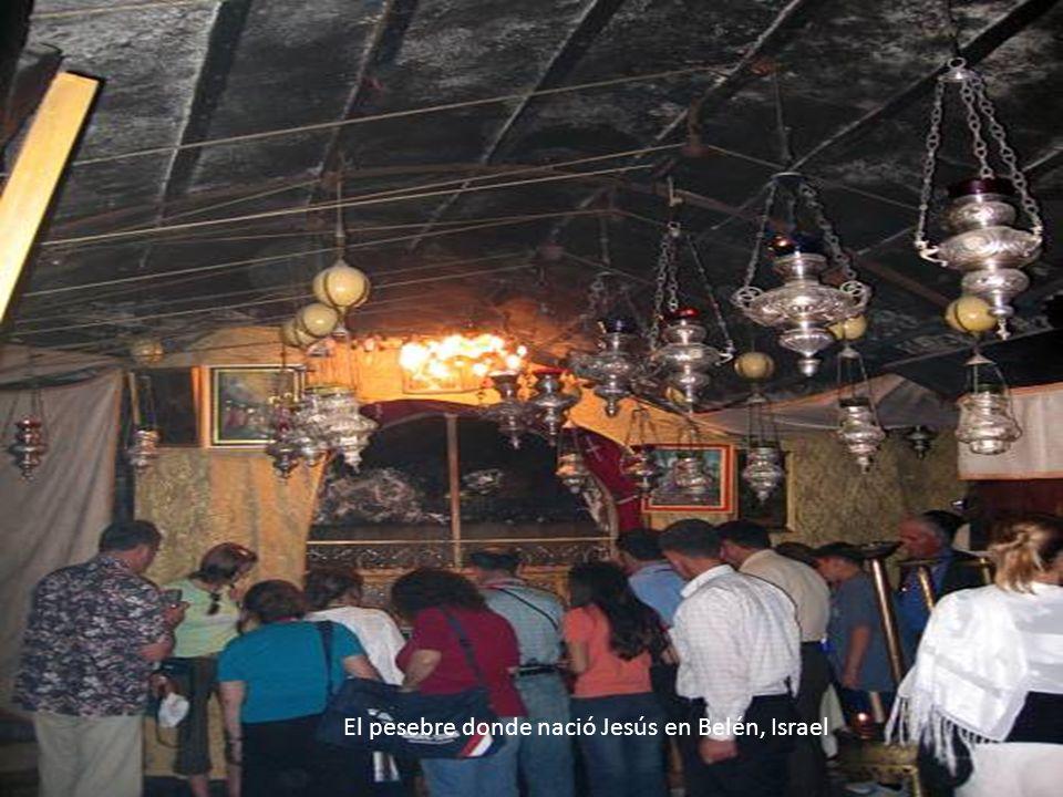 El pesebre donde nació Jesús en Belén, Israel