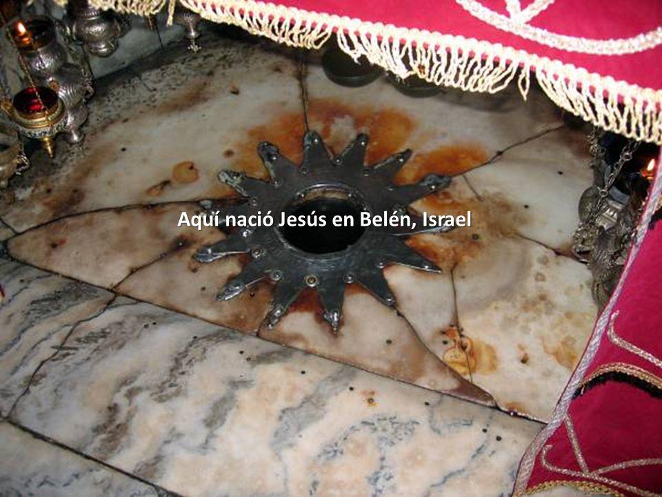 Aquí nació Jesús en Belén, Israel