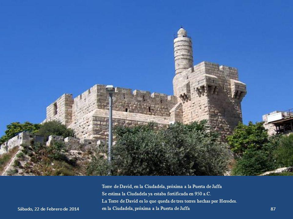 Torre de David, en la Ciudadela, próxima a la Puerta de Jaffa
