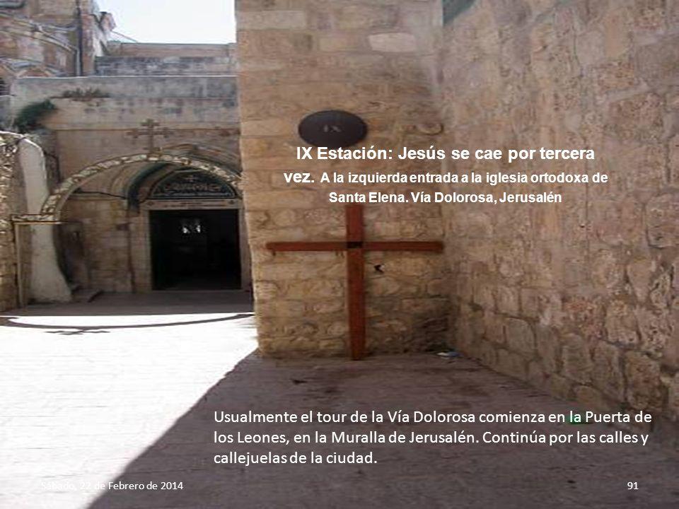 IX Estación: Jesús se cae por tercera vez