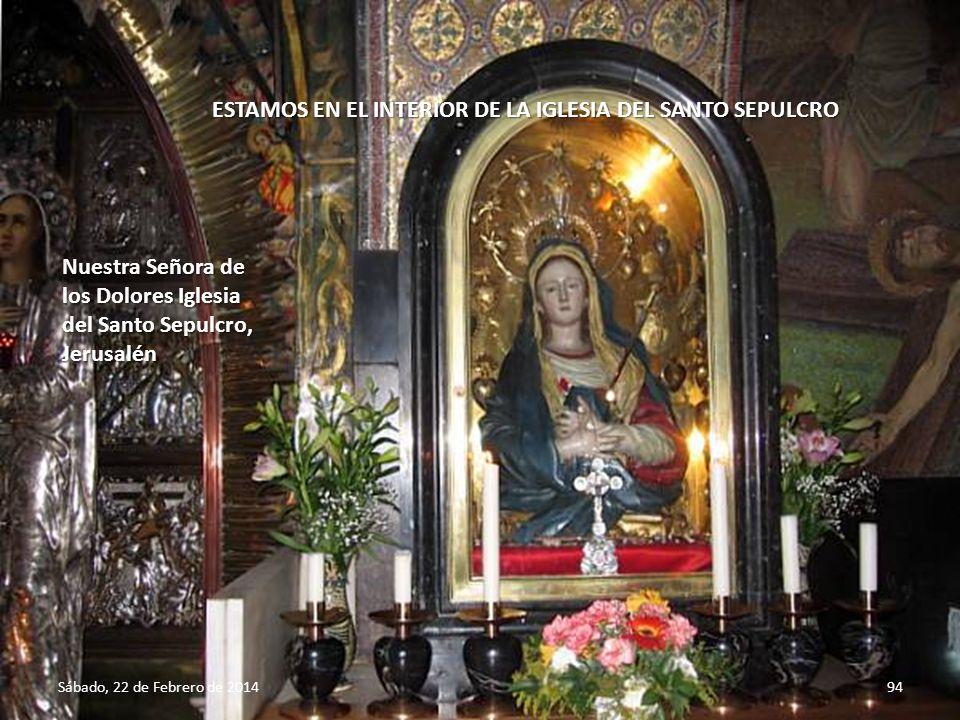 ESTAMOS EN EL INTERIOR DE LA IGLESIA DEL SANTO SEPULCRO