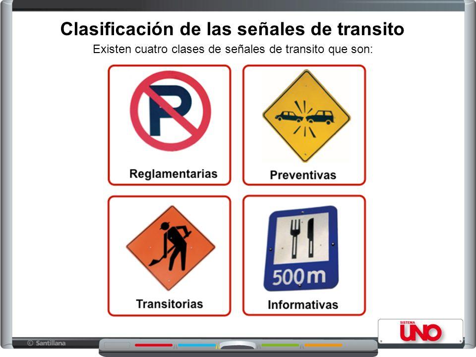 Clasificación de las señales de transito
