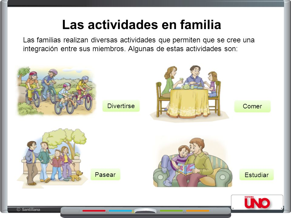 Las actividades en familia