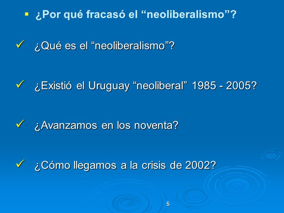 ¿Por qué fracasó el neoliberalismo