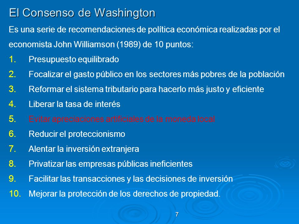 El Consenso de Washington