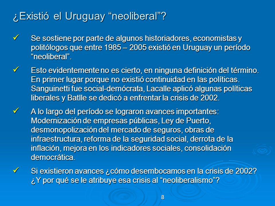 ¿Existió el Uruguay neoliberal