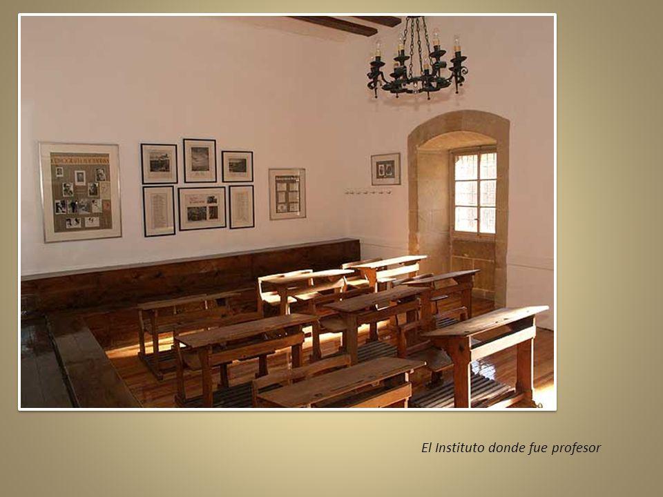 El Instituto donde fue profesor