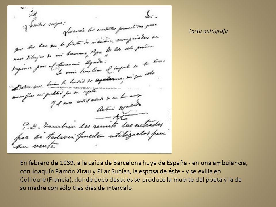 Carta autógrafa