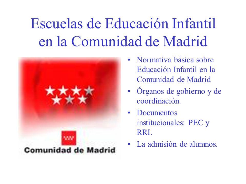 Escuelas de Educación Infantil en la Comunidad de Madrid