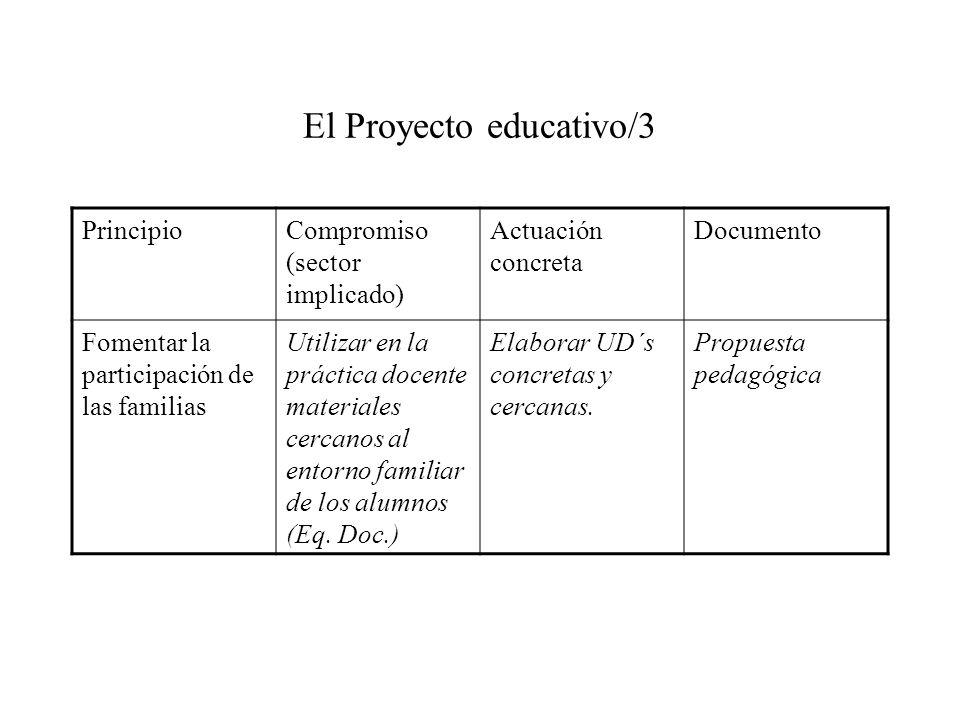 El Proyecto educativo/3