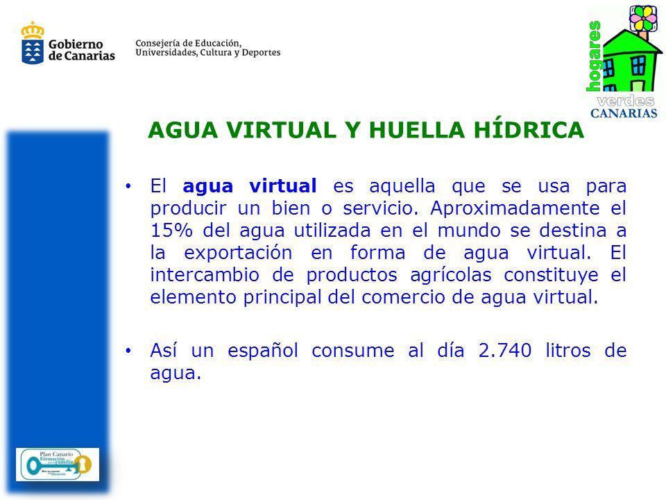 AGUA VIRTUAL Y HUELLA HÍDRICA