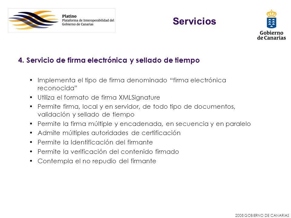 Servicios 4. Servicio de firma electrónica y sellado de tiempo