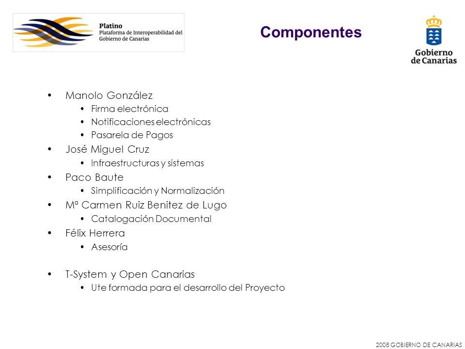 Componentes Manolo González José Miguel Cruz Paco Baute