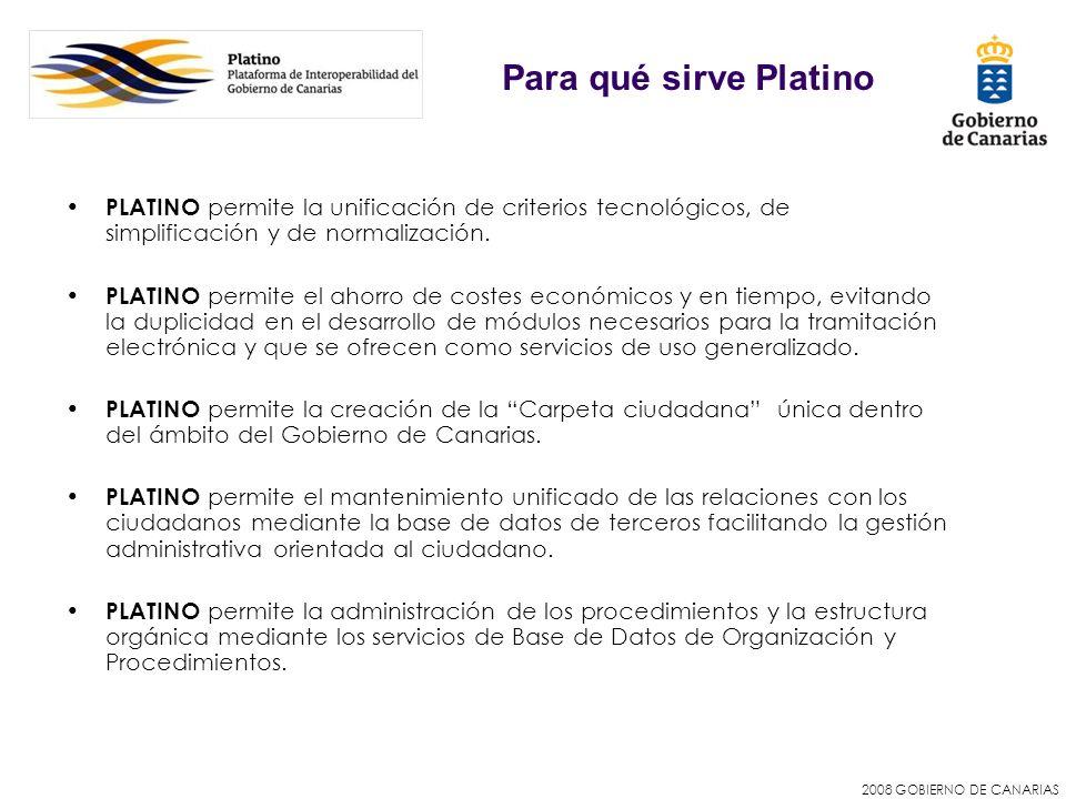 Para qué sirve Platino PLATINO permite la unificación de criterios tecnológicos, de simplificación y de normalización.