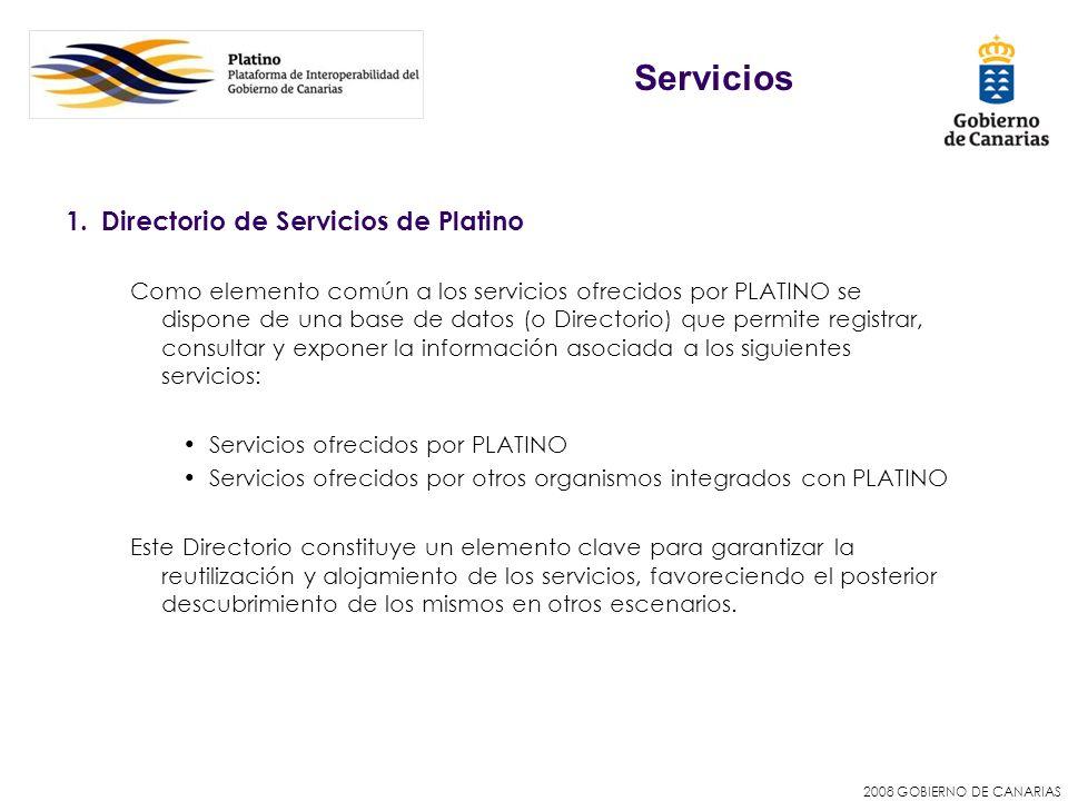 Servicios Directorio de Servicios de Platino