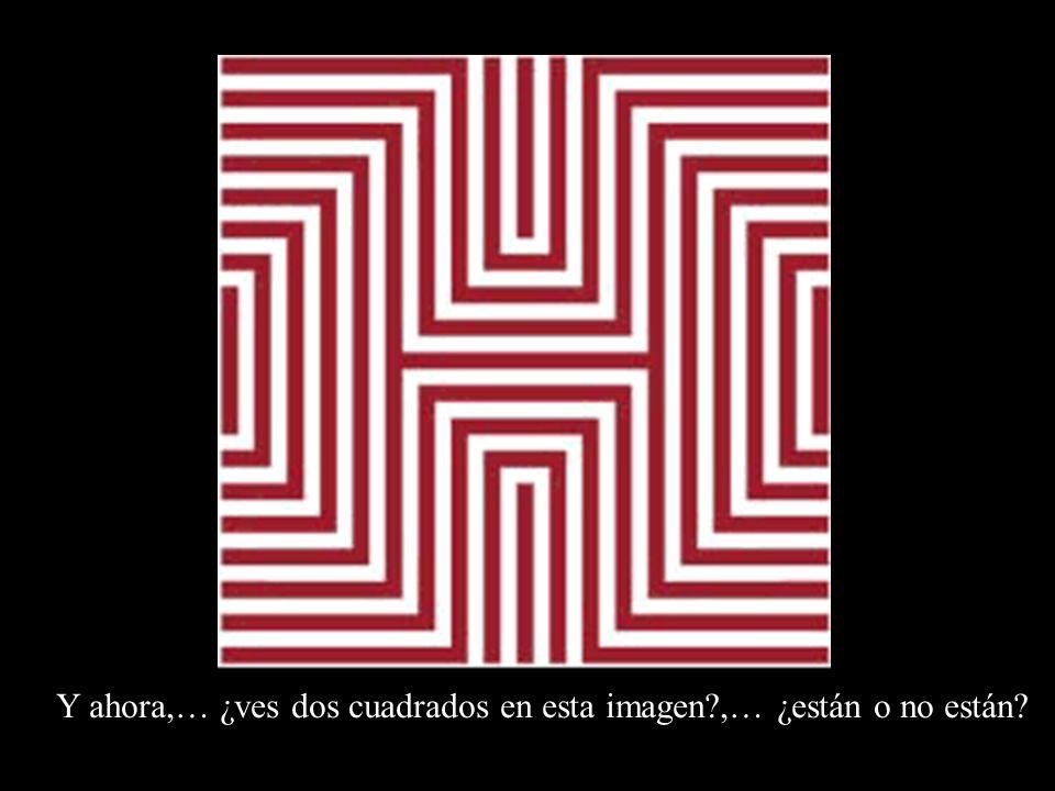 Y ahora,… ¿ves dos cuadrados en esta imagen ,… ¿están o no están