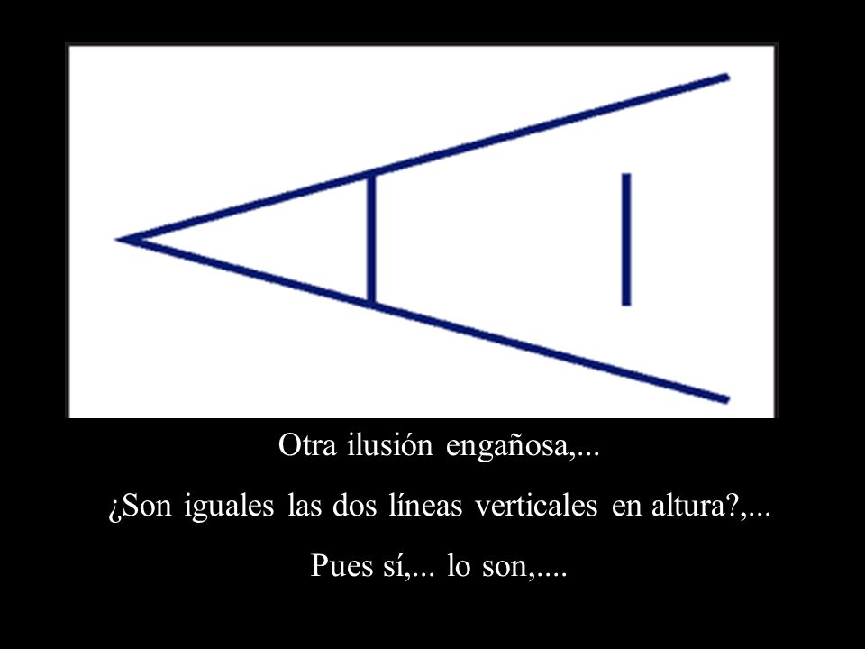 ¿Son iguales las dos líneas verticales en altura ,...