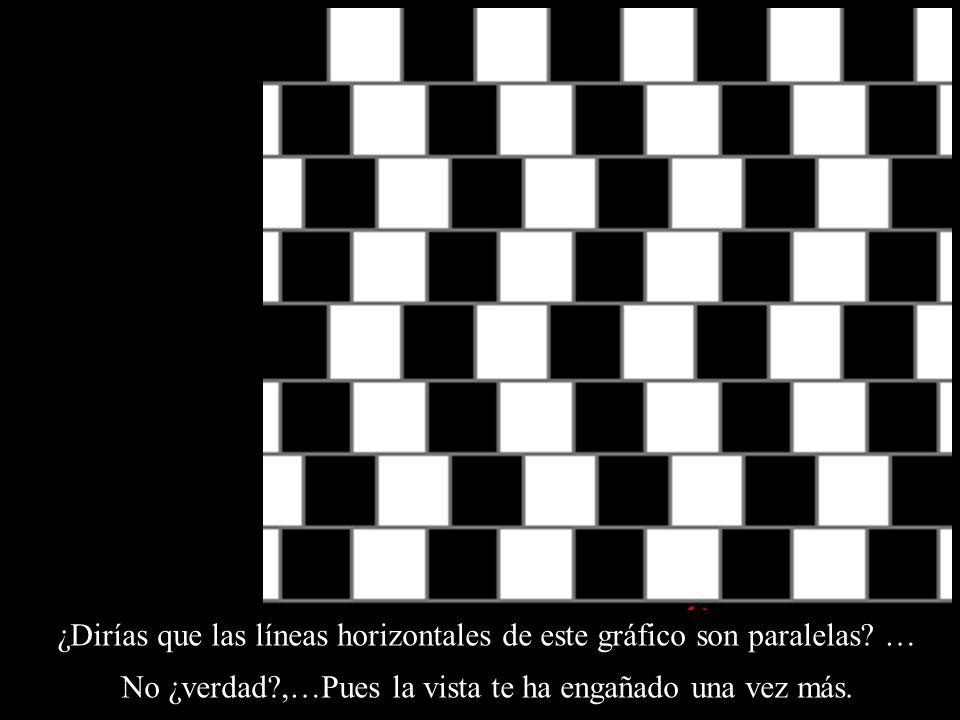 ¿Dirías que las líneas horizontales de este gráfico son paralelas …
