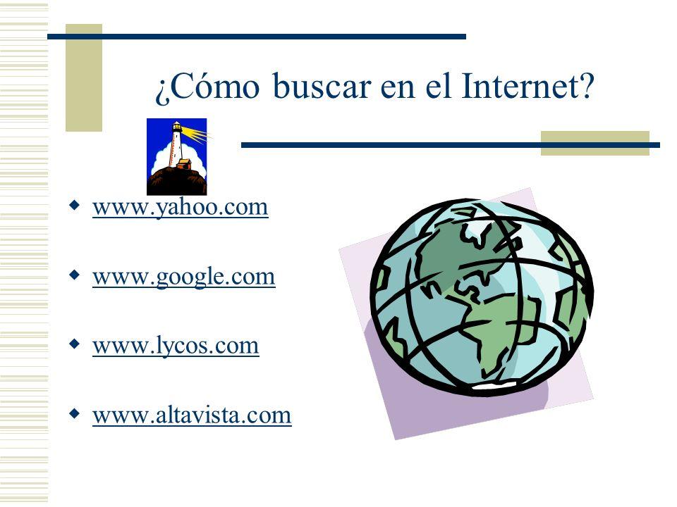 ¿Cómo buscar en el Internet