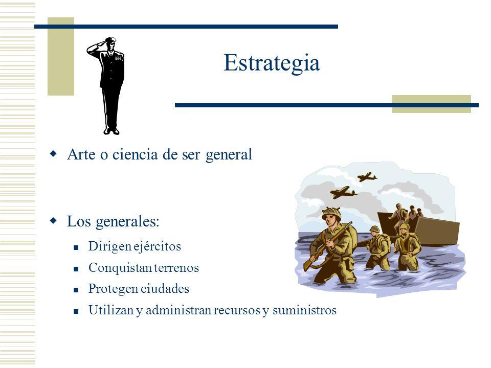 Estrategia Arte o ciencia de ser general Los generales: