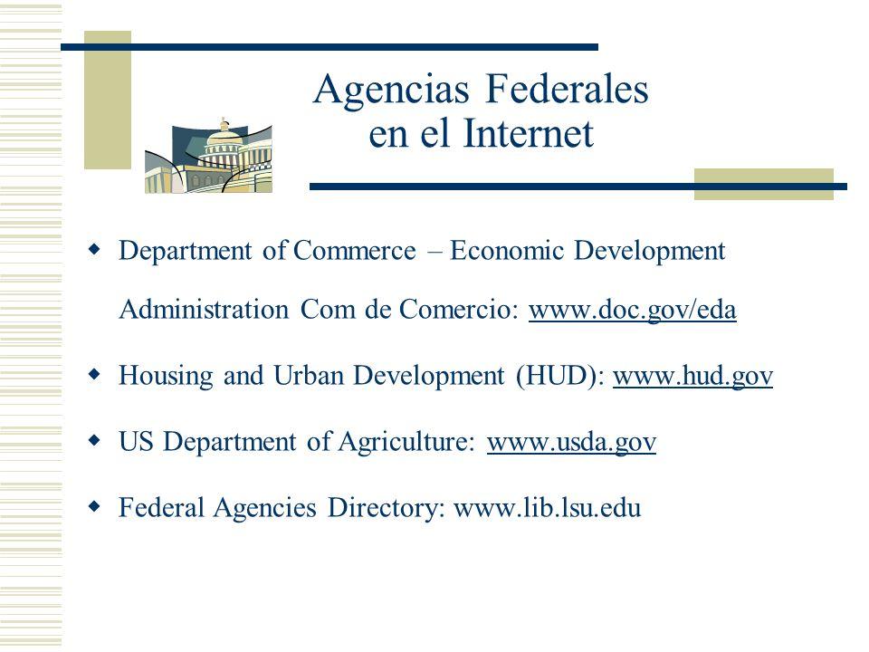 Agencias Federales en el Internet