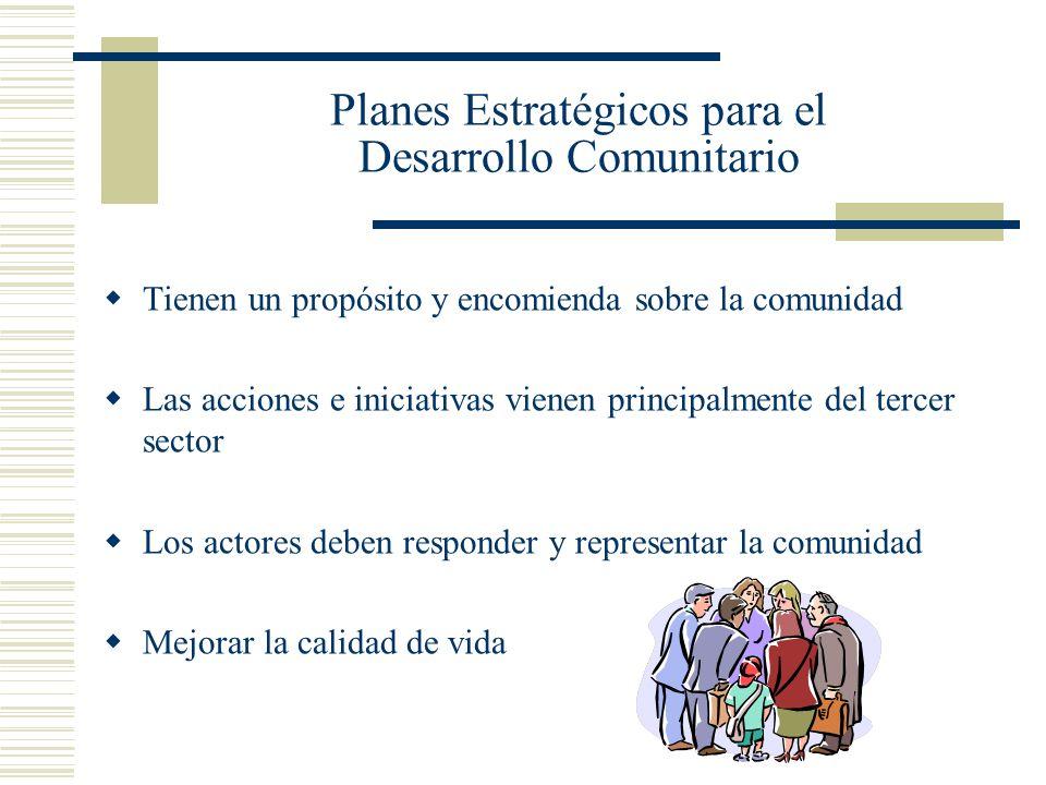 Planes Estratégicos para el Desarrollo Comunitario