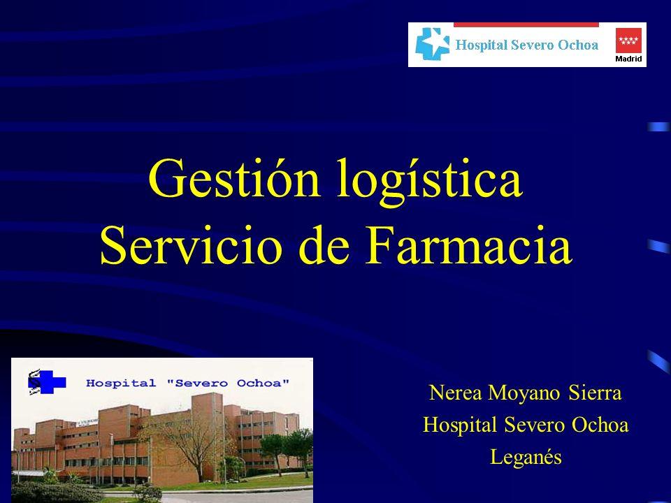 Gestión logística Servicio de Farmacia