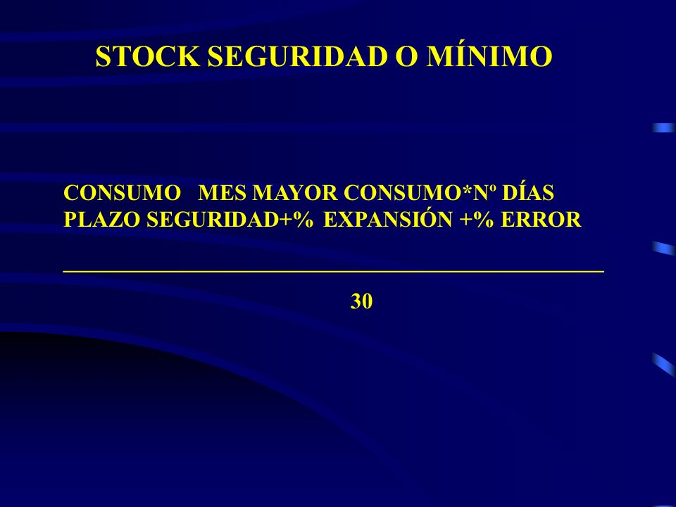 STOCK SEGURIDAD O MÍNIMO