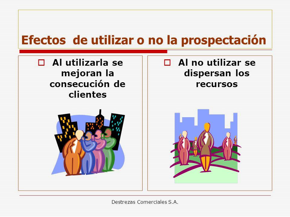 Efectos de utilizar o no la prospectación