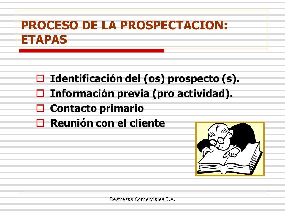 PROCESO DE LA PROSPECTACION: ETAPAS