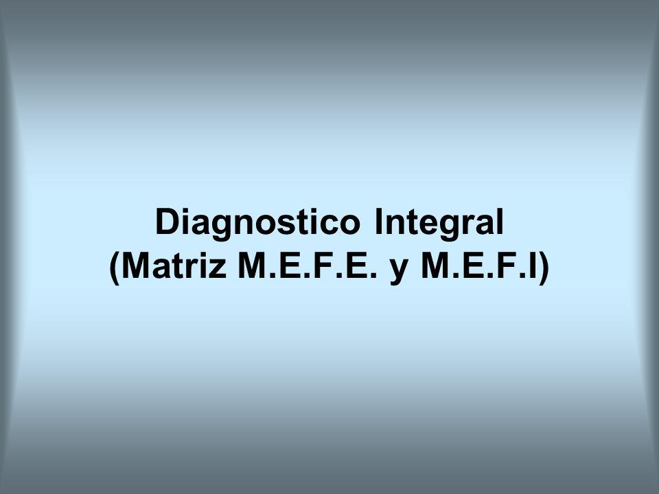 Diagnostico Integral (Matriz M.E.F.E. y M.E.F.I)