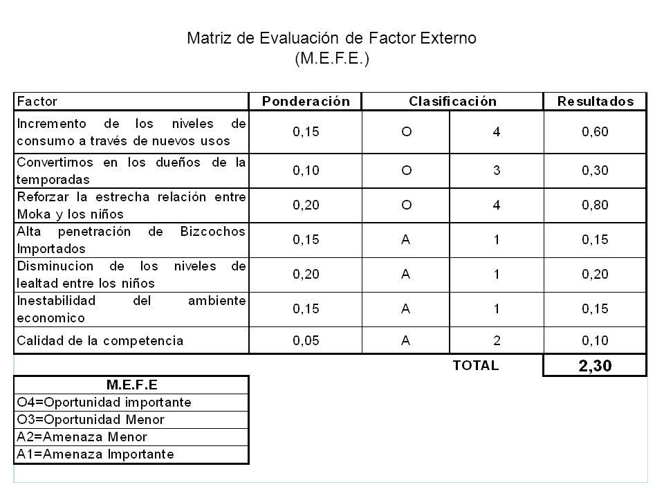 Matriz de Evaluación de Factor Externo