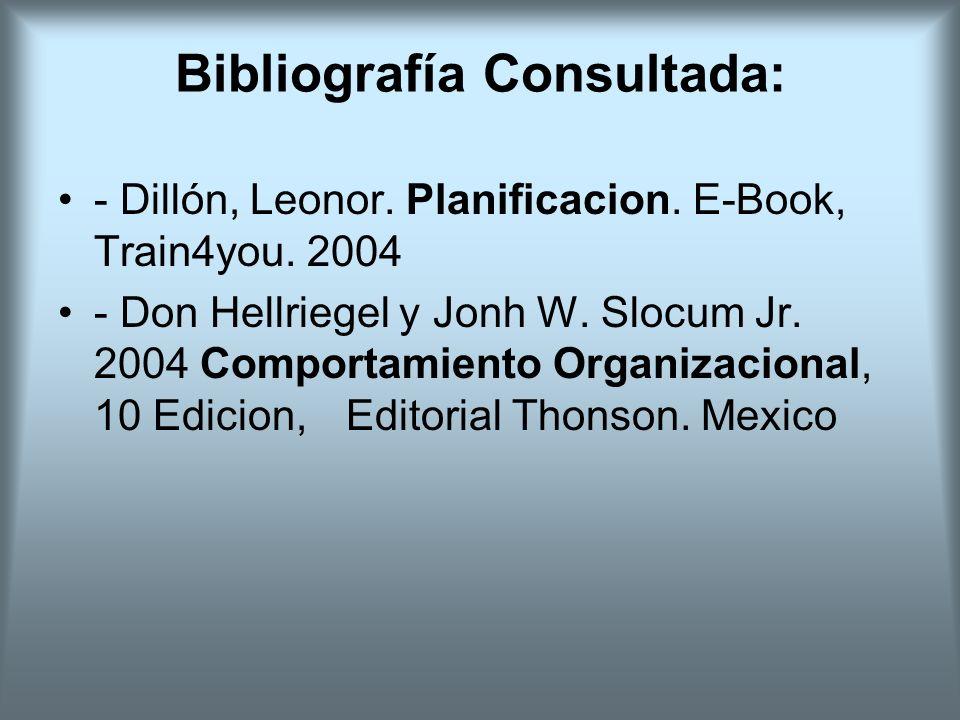 Bibliografía Consultada: